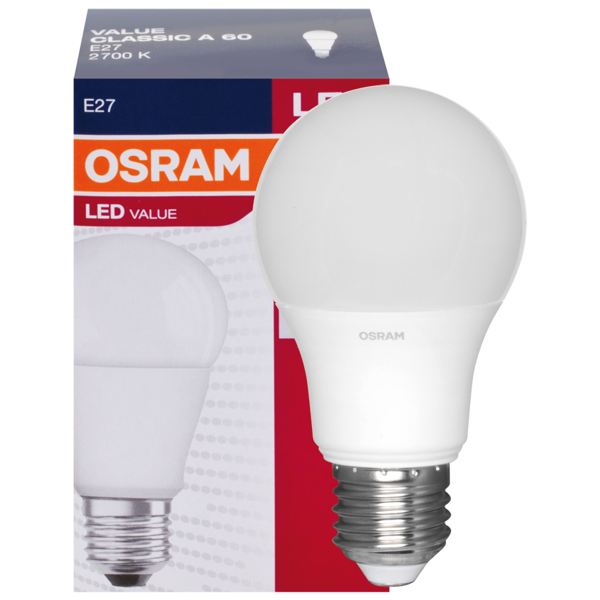 osram led lampe 9 0w e27 806lm matt. Black Bedroom Furniture Sets. Home Design Ideas