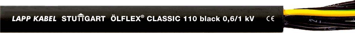 Lapp Kabel ÖLFLEX CLASSIC 110 Black 0,6//1kV Erdkabel 2x0,75mm² 1120232 Meterware