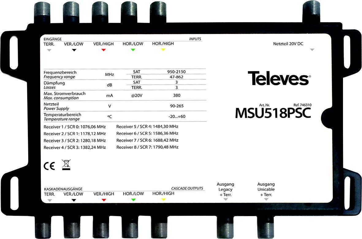 Multischalter 8 TN MSU518PSC