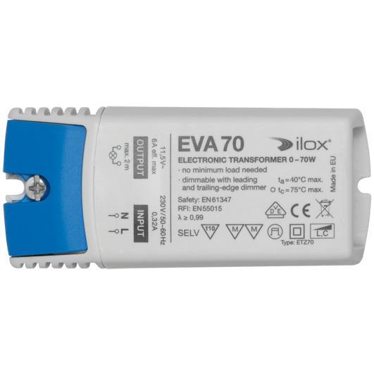 NV-Sicherheitstrafo, 230V/11,5V/0-70W, elektronisch