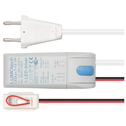 LED-Netzteil 230V/12V-350/700mA
