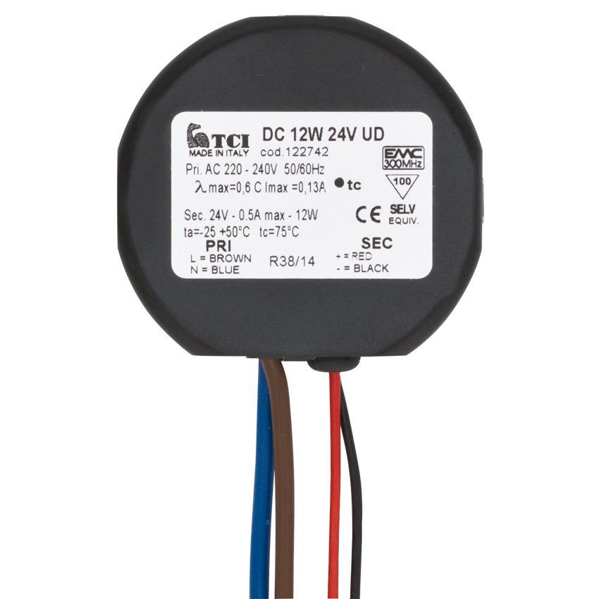 LED-Netzteil 230V 24VDC 12W