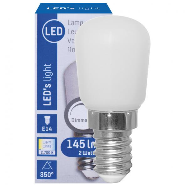 LED-Lampe Birnenform E14/240V/2W matt