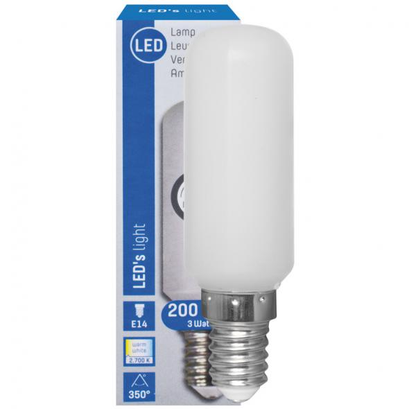 LED-Lampe Röhrenform E14 240V 3W matt